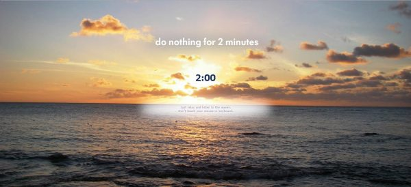 Do nothing for2min